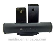 Sound bar for iphone 5 5s4 4s speakers with FM radio alarm clock