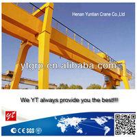 Heavy duty double girder mobile gantry crane 10 ton with cantilever