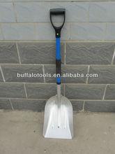 aluminum snow shovel with fiberglass handle