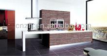Fashional kitchen cabinet handle, UV,MDF, Demet Acrylic kitchen cabinets 9632