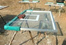 Steel framed tempered glass basketball backboard