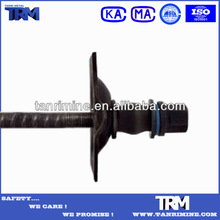 Tunnel strata roof support split set rock bolt