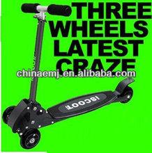 ISCOOT 3 WHEEL BOYS T-BAR SCOOTER / BOBBI-BOARD THREE WHEELER KIDS BLACK