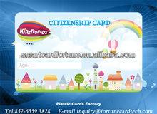 "CR80 3 3/8 x 2 1/8 "" plastic KIDZTROPOLIS cards"