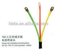 1kV 3-core heat shrinkable joint/shrinkable cable terminal kits