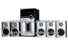 5.1 Surround Sound Speaker with USB/SD/FM/Bluetooth/Remote