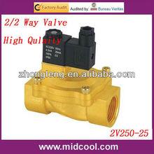 2V250-25 Fluid Control Solenoid 2/2 Way Valve superior Brass