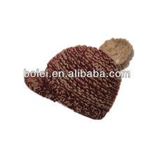2012 winter baseball winter cap with jacquard weave