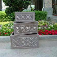 Large Retangular Garden Planter Outdoor Plant Planter Pots 3pcs/set QL-13092 Unique Design
