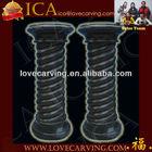 Hotsale black stone columns for home or garden