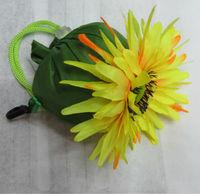 polyester shopping bag foldable reusable shopping bags flower shape bag