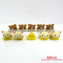 Wholesale Anime Rilakkuma bear Action Figure 10pcs