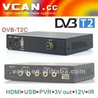 Satellite receiver super max DVB-T2C-304 digital TV receiver mobile digital car dvb-t2 tv receiver