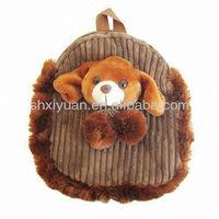 Cuddly plush stuffed toy dog bag