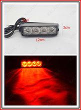 High power 12*3*3cm LED strobe light with memory function warning light 4 flash patterns 52025-0.5w #F