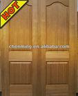 Natural wooden veneer moulded hdf door skin