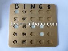 Classic plastic bingo playing cards