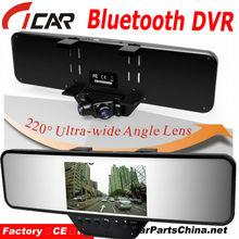 2013 New Bluetooth 220 Degree HD Wide-Angle HD720p Car Mirror Camera Mount