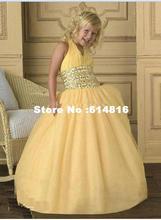 Custom flower girl pageant Junior Bridesmaid Dresses W3