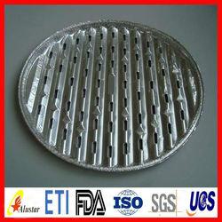 Supply round aluminim foil BBQ plates/pans