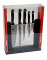 5pc cuchillo conjunto con el bloque de plástico