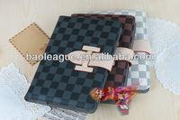 Luxury Fashion Grid PU Leather Case Stand Sleep/Wake For iPad mini