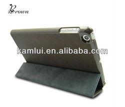 brown PU for ipad mini case