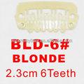 Bld- 6# al por menor y al por mayor 23mm larga de color rubio 6 u los dientes de forma fácil de complemento para clips de las extensiones del pelo pelucas weavings tramas
