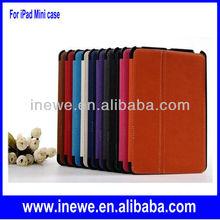 For iPad Mini PU Leather Case with pen slot