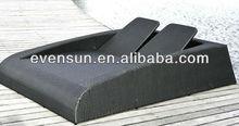 1pc patio double sun bed