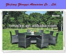 2013 new design competitive price PE rattan garden furniture dinning series