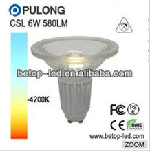 cob 6w gu10 bulb led gu10 63mm 580lm 50w halogen replacement