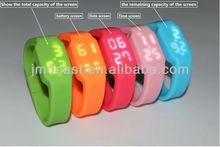 LED watch usb/silicone wristband watch usb flash drive