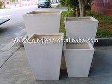 2013 Large Magnesium White Planter Pots Clay Planter Vases 4pcs/set 50inch Unique Design
