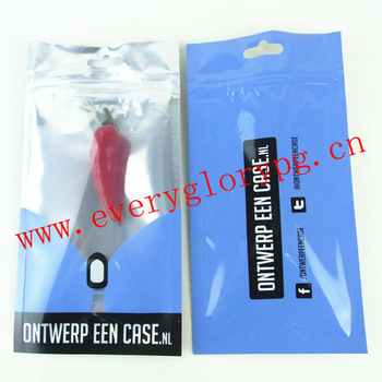 New Style Zip Lock Plastic Bags For Cellphone Accessories Packing