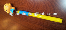 Plastic ball pen with PVC cute lovely animal head
