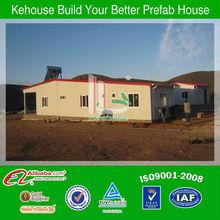 Certificata iso9001:2008 basso costo leggera di acciaio casa mobile made in china
