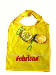 Orange 190T foldable bag
