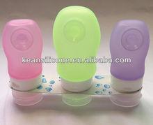 Novel Design Portable Silicone Hotel Toiletries Bottles