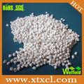 Bianco dopo/ignifugo pellet usato in gomma