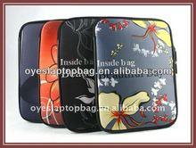 flower pattern ladies laptop sleeve computer sleeve bags embroidery neoprene laptop sleeve bag