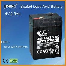 JIMING AGM lead acid battery:4V 2.5Ah