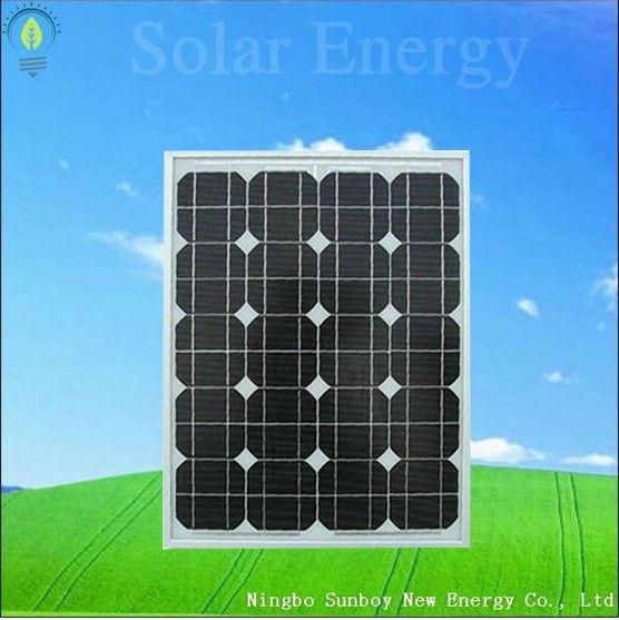 50W Monocrystalline Photovoltaic Solar Panel