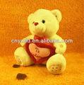 pequeño blanco de peluche del oso de peluche con el corazón