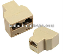 rj 45 rede ethernet splitter acoplador plug conector
