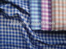 linen cotton yarn dyed casual shirt fabric