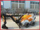small skid steer loader,mini backhoe,with Italy pump and joystick,imported engine