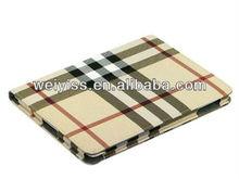 New Khaki PU Leather Lattice Flip Book Stand Case Cover Skin for iPad Mini