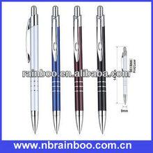 2013 Hot selling nice design aluminium barrel promotional metal pen with parker refill