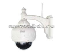 H.264/1280x720 wireless PTZ IP camera/ONVIF 720P Outdoor Wireless Pan Tilt 3X zoom IP Camera with IR-Cut